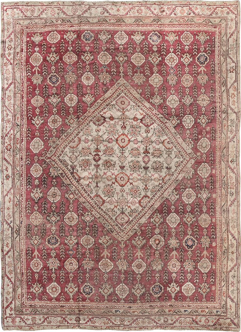 Antique Oushak Antique Rug Carpet Jh Minassian