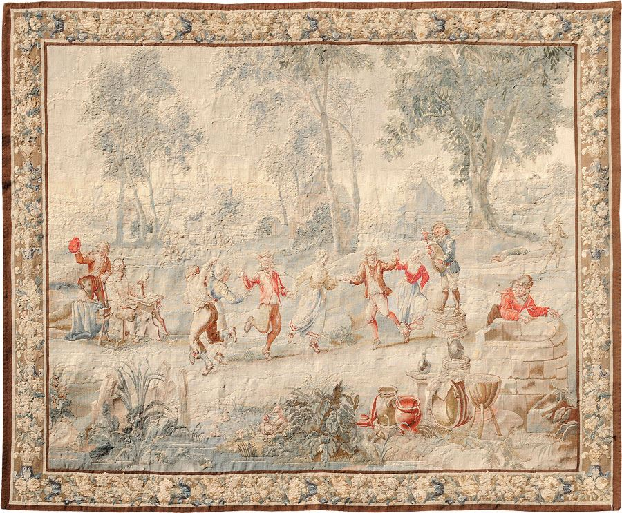 18th Century French Tapestry Antique Rug Carpet Jh Minassian