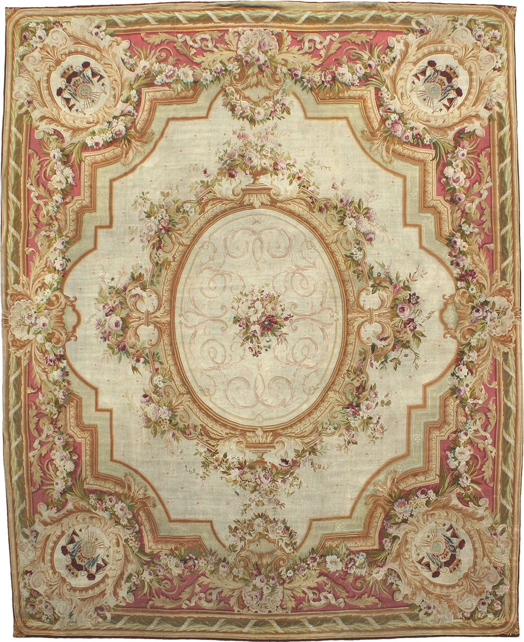 Antique Royal Aubusson Antique Rug Carpet Jh Minassian