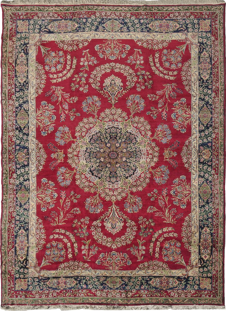 Old Kerman Antique Rug Carpet Jh Minassian