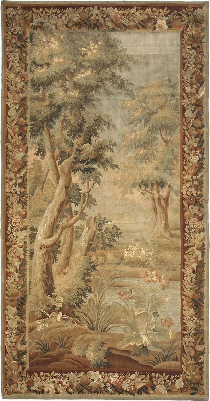19th Century French Tapestry Antique Rug Carpet Jh Minassian