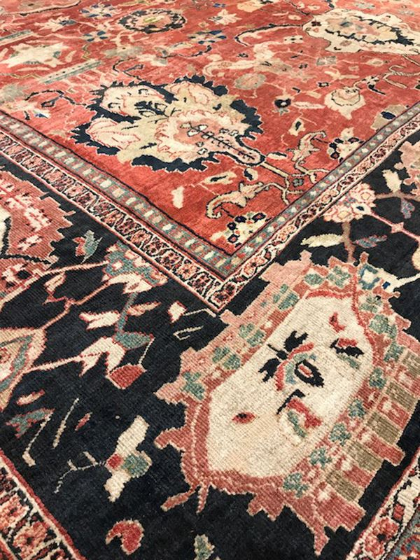 Antique Ziegler Sultanabad Antique Rug Carpet Jh Minassian